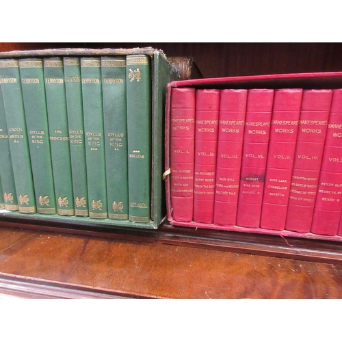 383 - Two boxed sets of miniature volumes, ' Tennyson and Shakespeare's Works '...