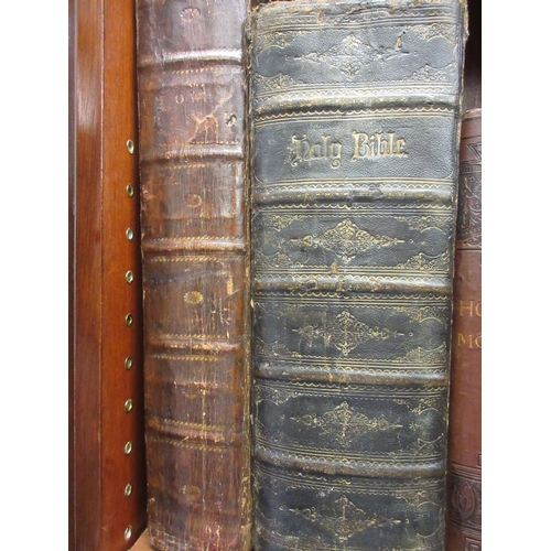 387 - Two large bibles, printed James Reilly, Dublin, 1794 and ' Virtue ', circa 1860...