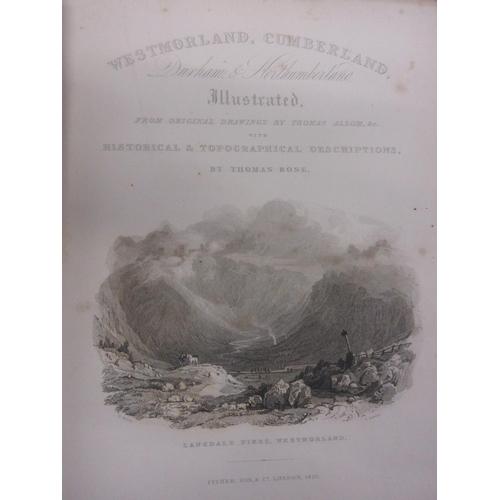 395 - Thomas Rose one volume ' Westmoreland, Cumberland, Durham and Northumberland ', published Fisher, Lo...