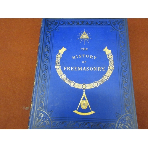 396 - R.F. Gould, six volumes, ' The History of Freemasonry ', published Thomas C. Jack, London 1883...