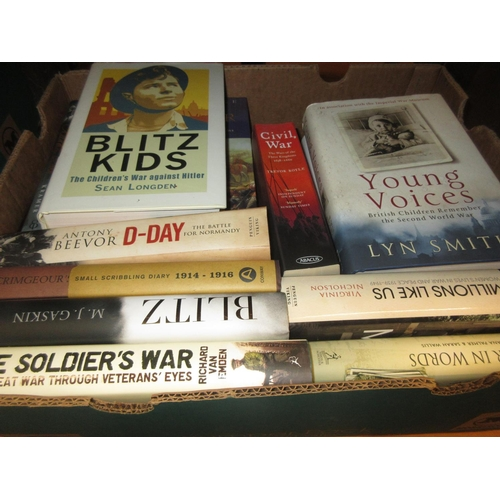 407 - Approximately twenty volumes, mainly World War I and II, Civil War, childrens experiences etc...