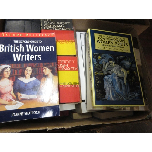 417 - Approximately twenty four volumes, women writers, reference etc...
