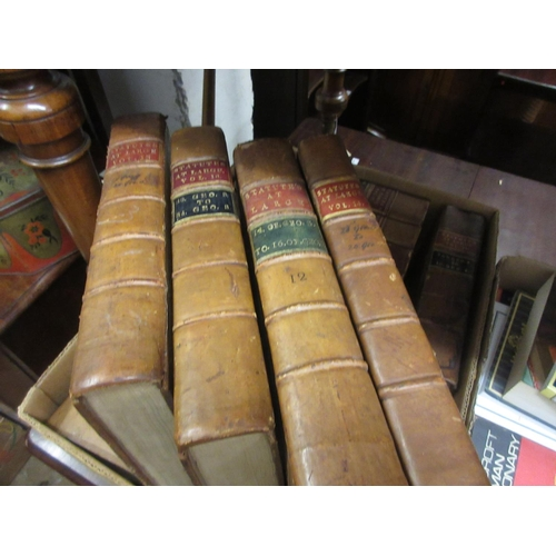 427 - Nine volumes, ' Statues at Large ' 1774 - 1829, bound full leather, published by Charles Eyre and pr...