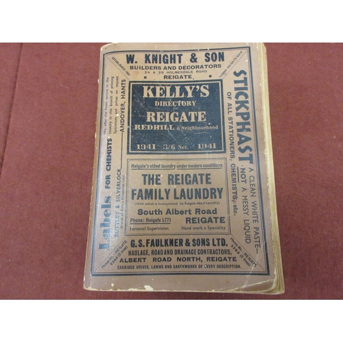 430 - Kellys Directory of Reigate Redhill and Neighbourhood, 1941...