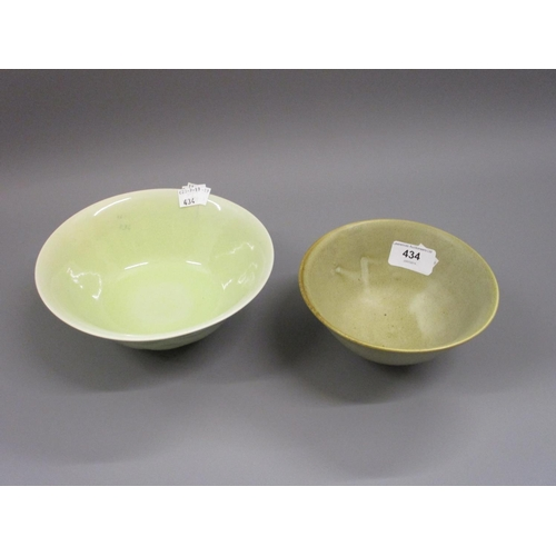 434 - Two 20th Century Art Pottery pedestal bowls...