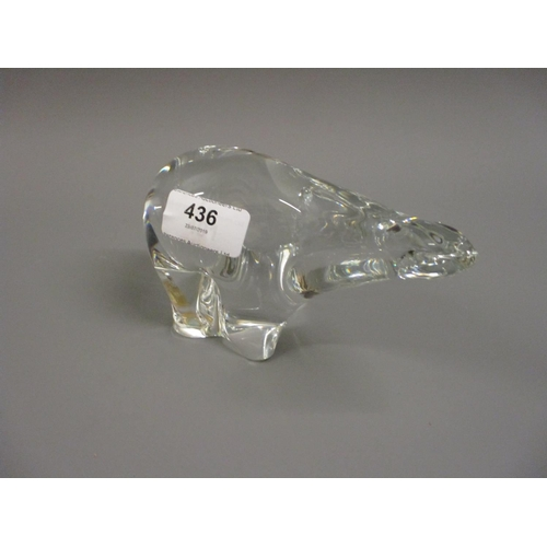 436 - Royal Krona Swedish glass figure of a polar bear...