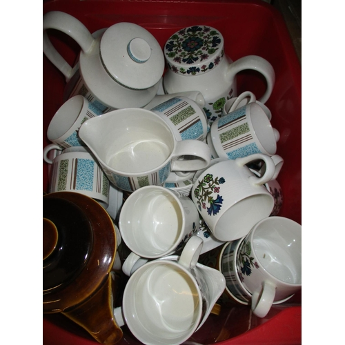 451 - Hornsea coffee set (lacking one cup) together with a Midwinter coffee set and another...