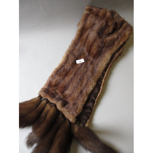 49 - Ladies large fur stole...