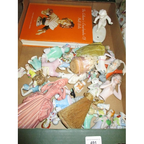 491 - Collection of various late 19th and early 20th Century porcelain half dolls in varying sizes...