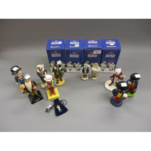 512 - Group of four Wade Limited Edition Michelin miniature figures in original boxes, together with a Lim...