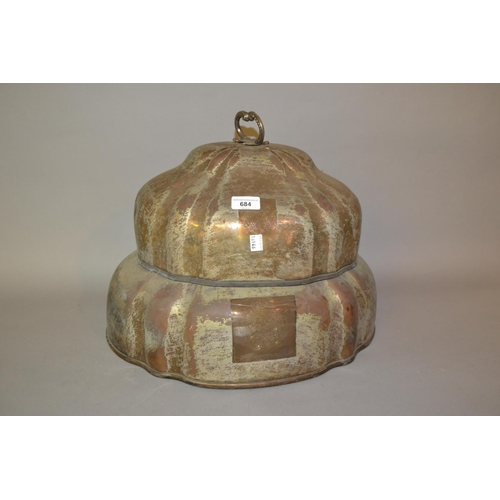 684 - Two 19th Century plated on copper oval meat dish covers...
