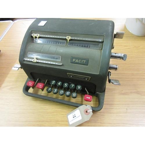 77 - Atvidaberg Facit, mid 20th Century Swedish calculator (at fault)...