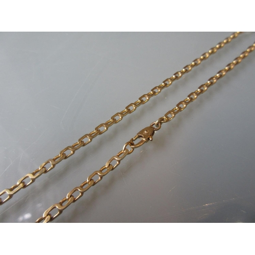 805 - 9ct Yellow gold snake link chain...