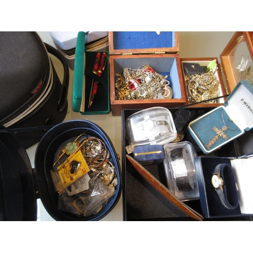 836 - Quantity of various costume jewellery, wristwatches etc...