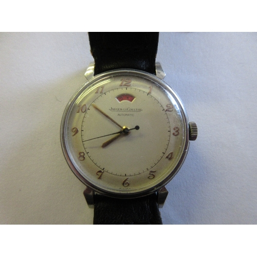 846 - Jaeger LeCoultre mid 20th Century gentleman's steel cased automatic wristwatch with Arabic numerals,...