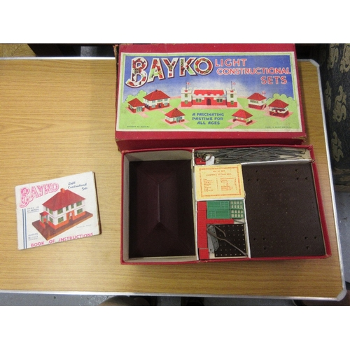 107 - Two Bayko boxed part construction sets...