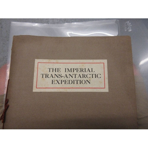 158 - Rare First copy ' The Imperial Trans Antarctic Expedition ' booklet , thirty-one pages including the...