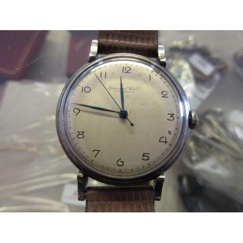 820 - Gentleman's International Watch Co. Schaffhausen stainless steel wristwatch, the circular dial with ...