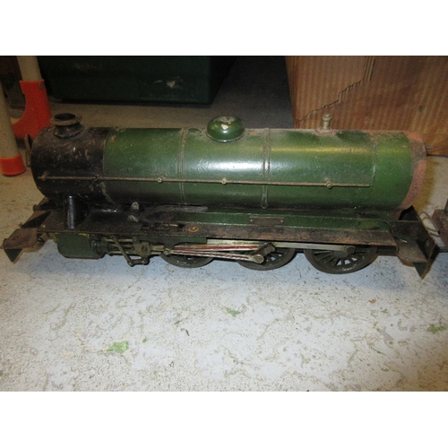 109 - Scratch built 2in gauge live steam locomotive with tender and one open wagon, the engine named Sir K...