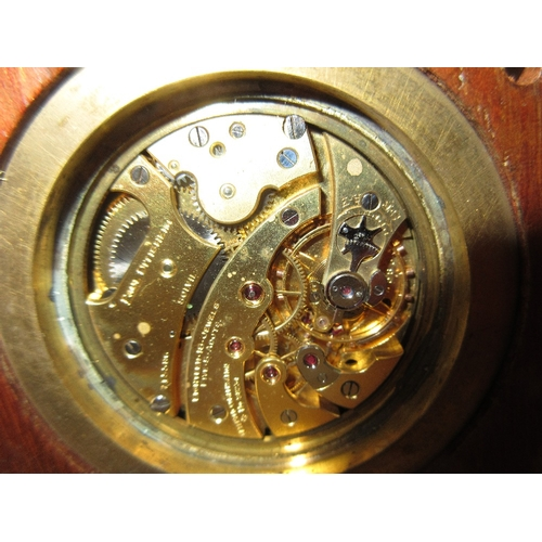 1469 - Paul Dittisheim, a small mahogany cased lever deck marine chronometer, the silvered dial with Roman ...