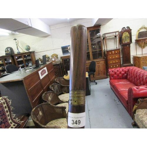 349 - 19th Century hardwood swordstick with 48in long rapier blade...