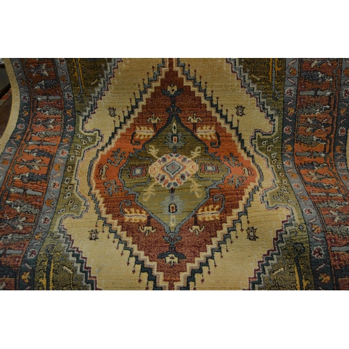14 - Kurdish rug together with two machine woven Persian style rugs...