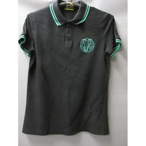 47 - Versace Jeans polo shirt with embroidered logo...