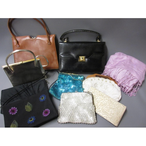 54 - Quantity of various  ladies evening purses and handbags etc. (From The Harold Wilson Sale)...
