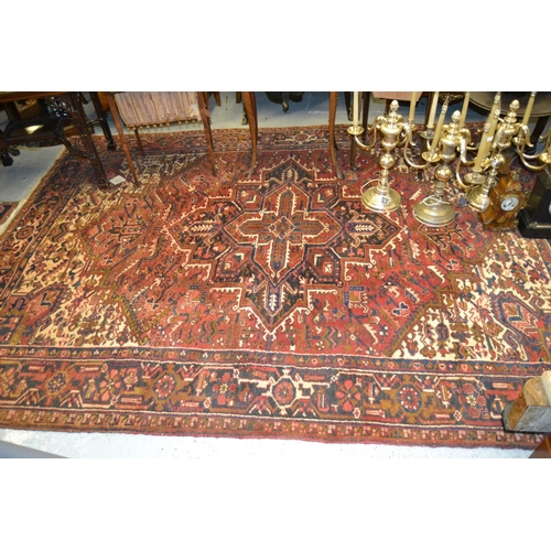 10 - Small Afghan Ziegler rug with an all-over floral design on an ivory ground, 60ins x 40ins...