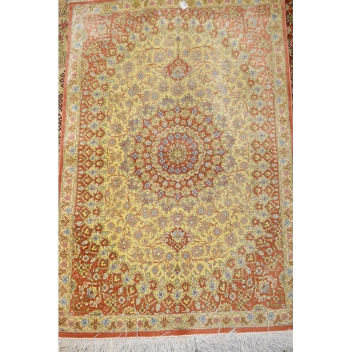 17 - Indo Persian carpet of all-over floral panel design, 9ft 6ins x 7ft 8ins...