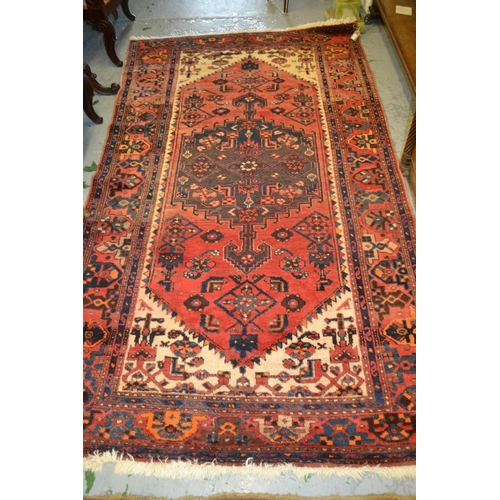 3 - Mid to late 20th Century silk style rug with a lobed medallion and all-over stylised floral design o...