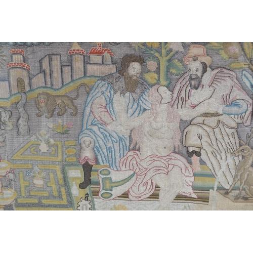 42 - French machine made tapestry, Le Roman de la Rose after Anne-Roland Akmin...