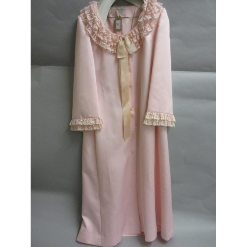26 - Christian Dior pink lace edged dressing gown...