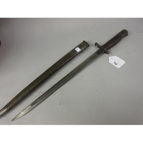108 - World War I bayonet with scabbard, B 1913...