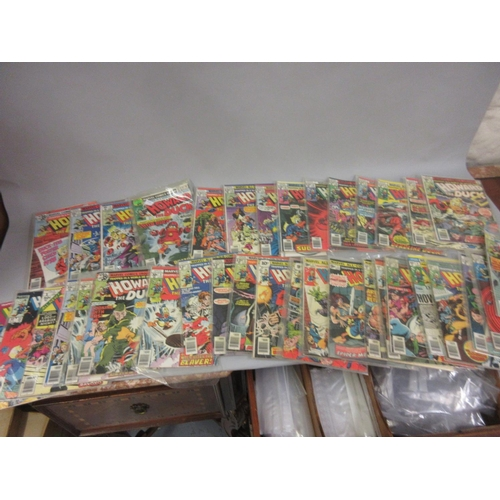 112 - Collection of Marvel ' Howard the Duck ' comics, No. 1 - 26, priced in pence, others priced in cents...