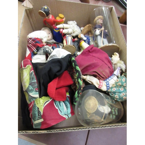 114 - Small collection of miscellaneous costume and other dolls...