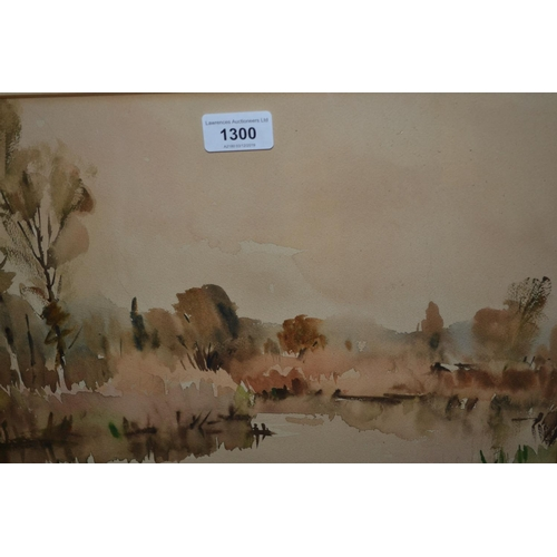 1300 - Edward Wesson, watercolour, ' A Backwater ', 10.5ins x 14.5ins, signed, in a painted frame...