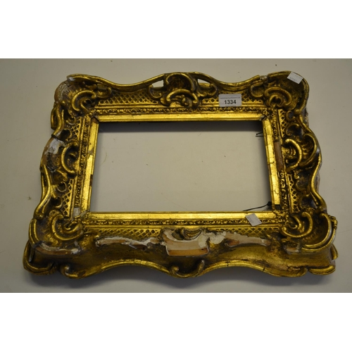1334 - Pair of small 19th Century Continental moulded composition picture frames (for restoration)...
