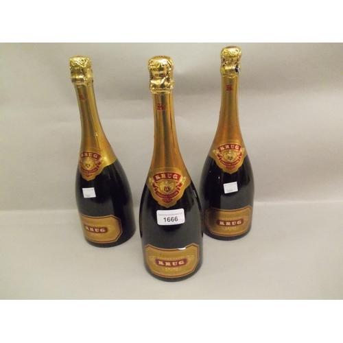 1666 - Five bottles Krug champagne Grand Cuvee...