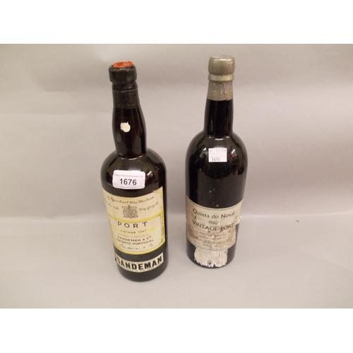 1676 - One bottle Sandeman 1947 vintage port, together with one bottle Quinta Do Noval 1960 vintage port