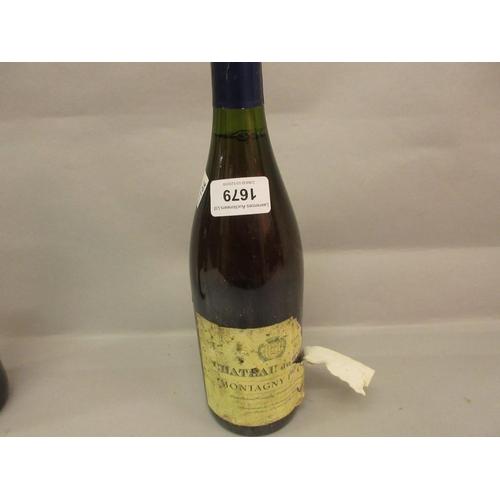1679 - One bottle Chateau du Gray Montagny, 1st Cru 1998