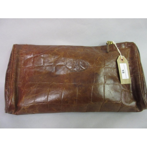18 - Mulberry leather simulated crocodile clutch bag...