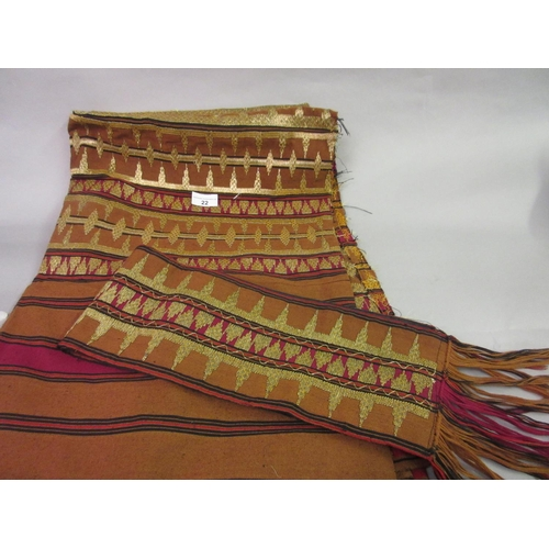 22 - Indonesian gold thread work ceremonial sarong...