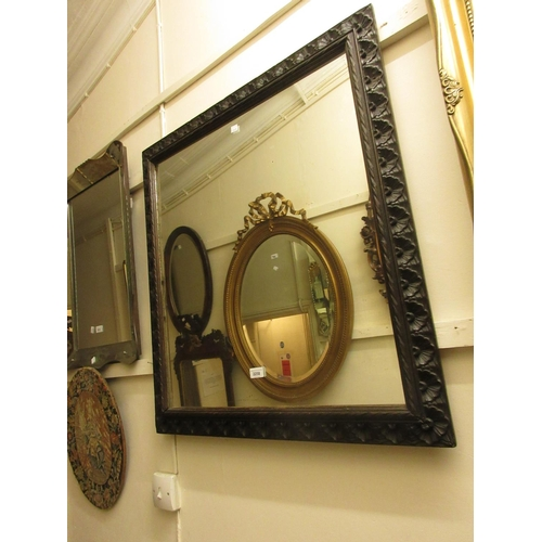 2258 - Late 19th / early 20th Century rectangular carved wooden framed wall mirror...