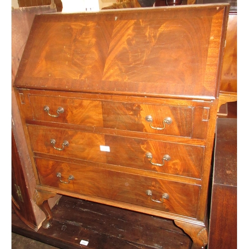 2326 - Reproduction mahogany bureau with a fall front...