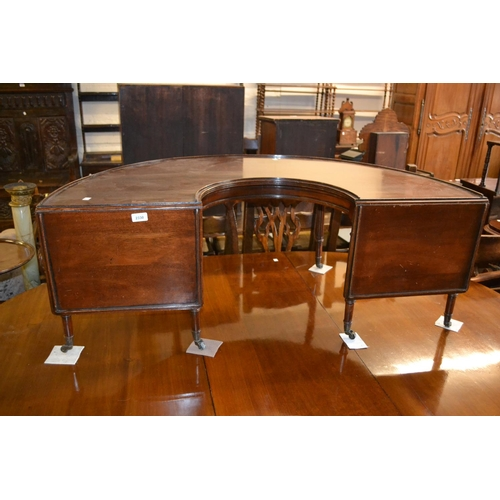 2330 - Early 20th Century mahogany half round drop leaf occasional table in the form of a hunt table raised...