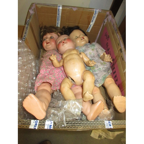 59 - Heubach Koppelsdorf bisque headed doll together with two composite headed dolls...