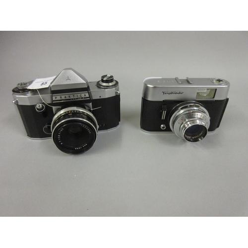 85 - Praktica 35mm camera and a Voigtlander Vito C 35mm camera...