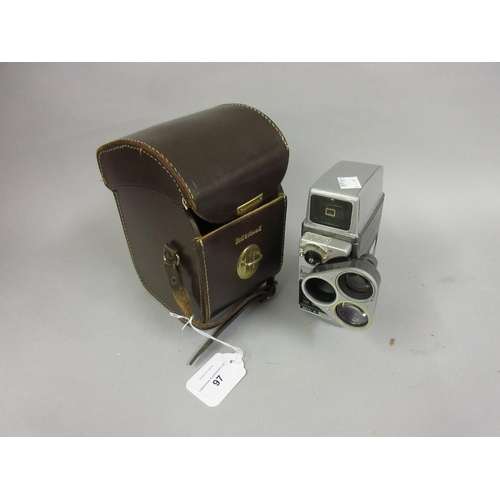 97 - Bell & Howell cine camera in a leather case...