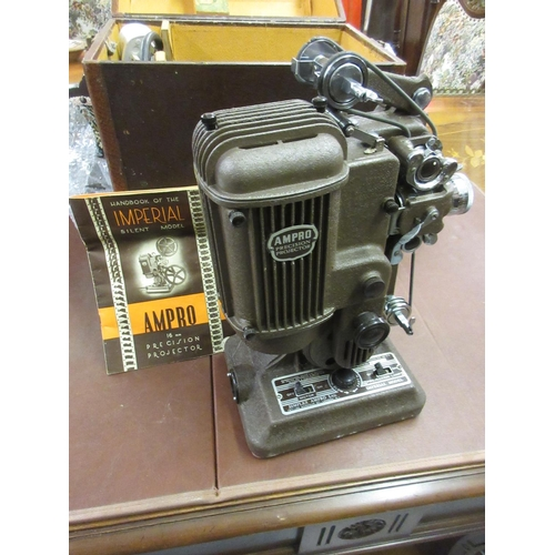 99 - Simplex Ampro Imperial model 16mm film projector in original fitted case together with power supply...
